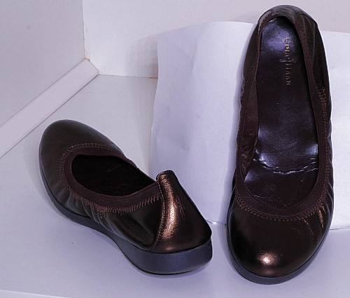"""The Cole Haan """"Gilmore"""" Ballet Flat Some colours are still available on  Zappos for $99.99 a pair"""