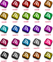 Metallic RSS Feed Icons