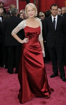 Helen Mirren Oscar Dress