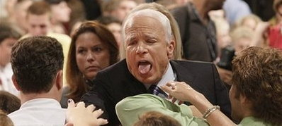 McCain Makes Funny Face
