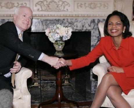 Condi Rice And John McCain