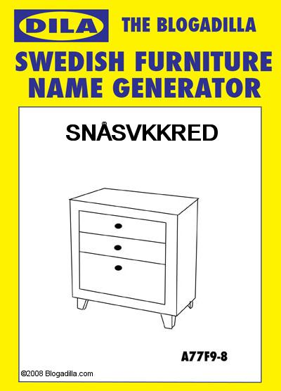 My Swedish Furniture Name